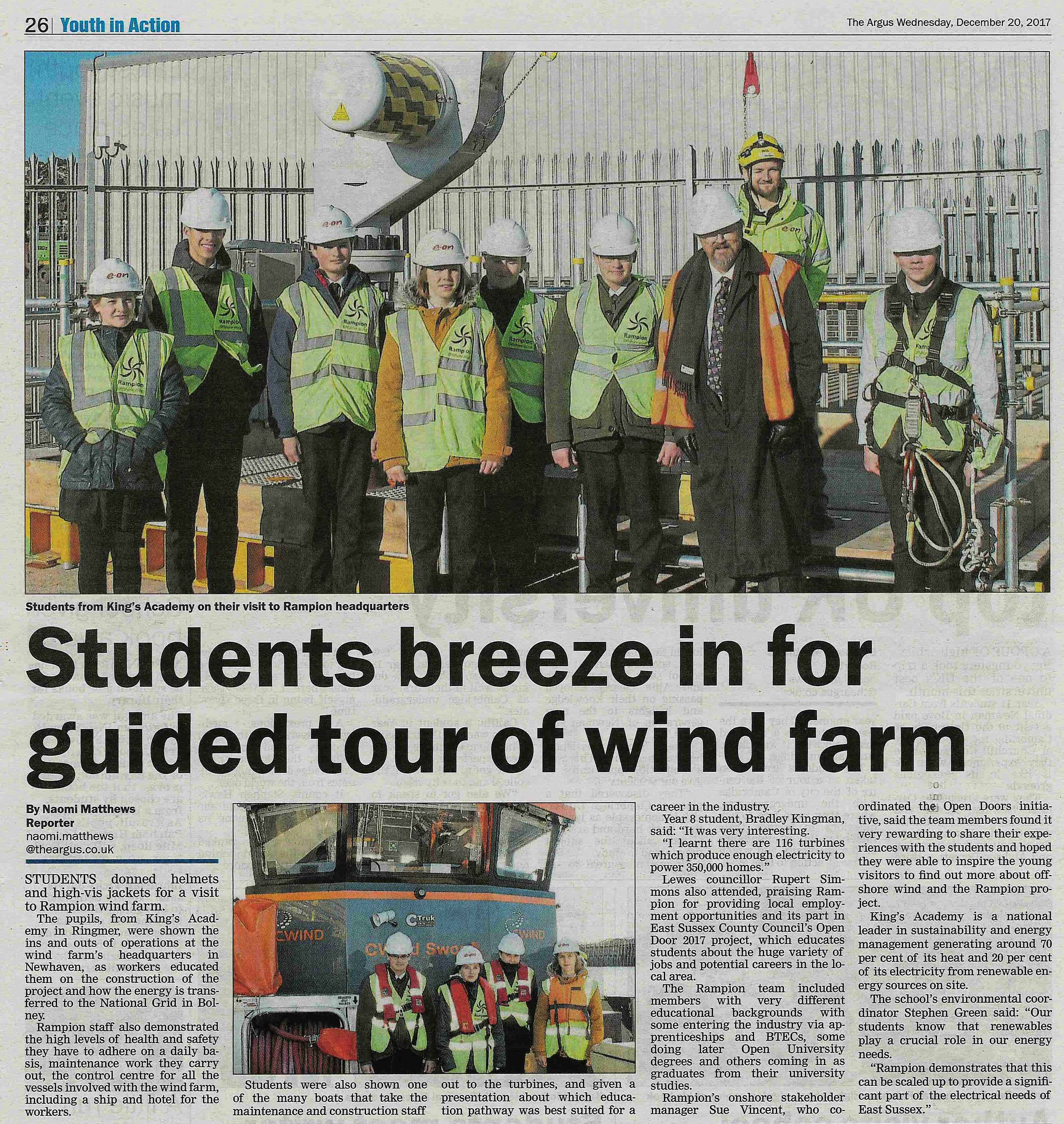 Brighton Argus - Rampion opens doors to students