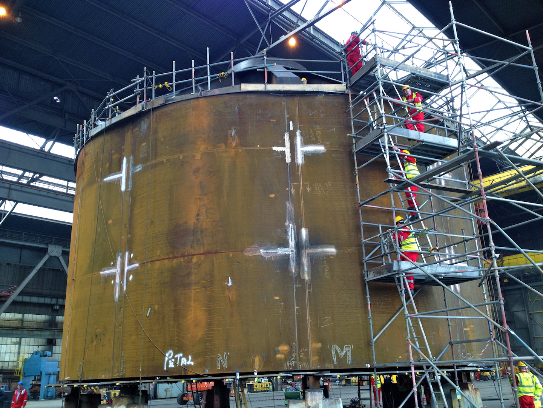 Innovation: Harland and Wolff's mono bucket foundation under fabrication