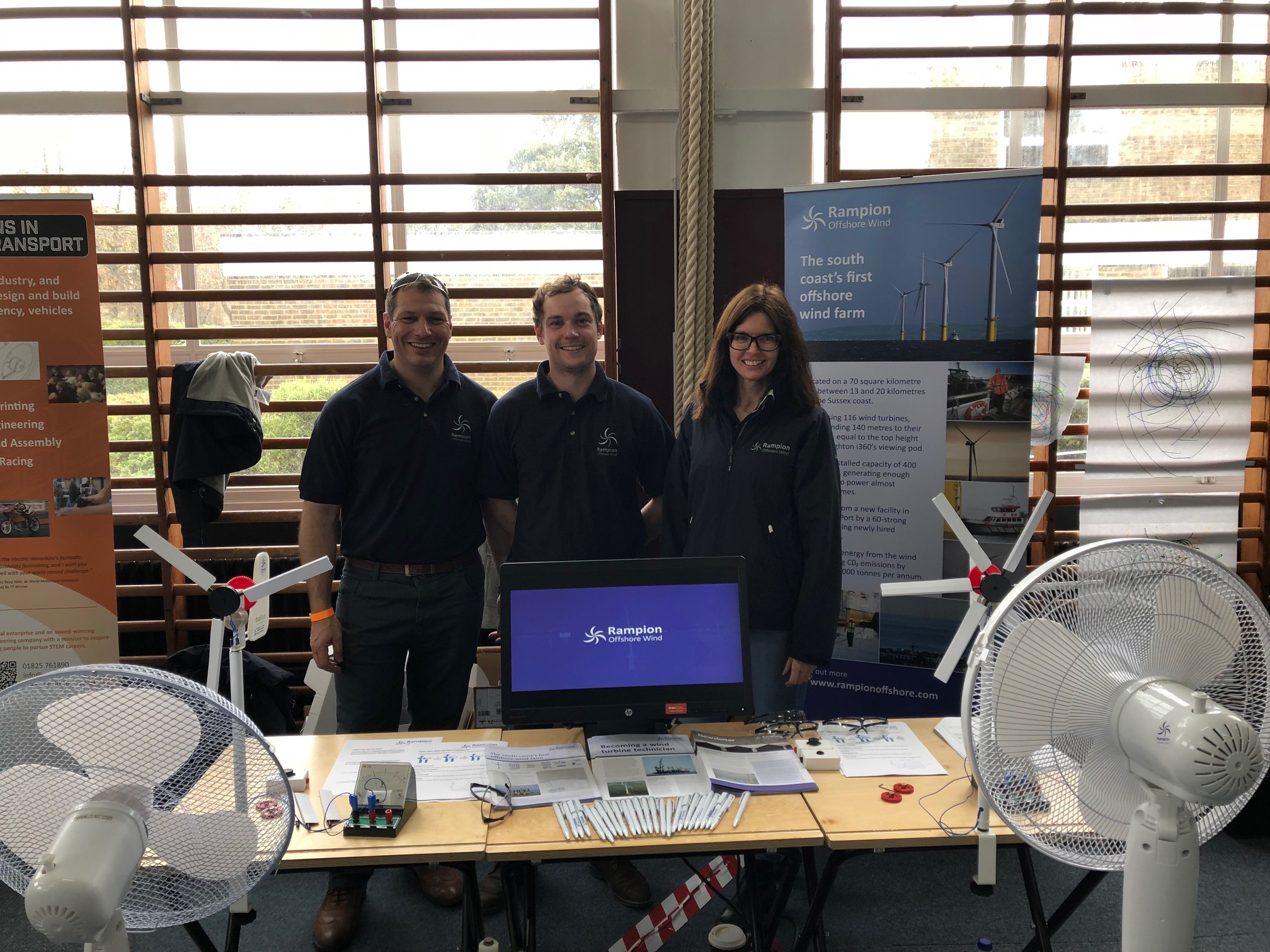 Rampion team at the Big Bang schools event in Eastbourne