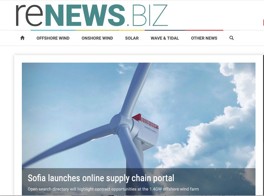 New Sofia supplier portal delivered by PRsue Communication