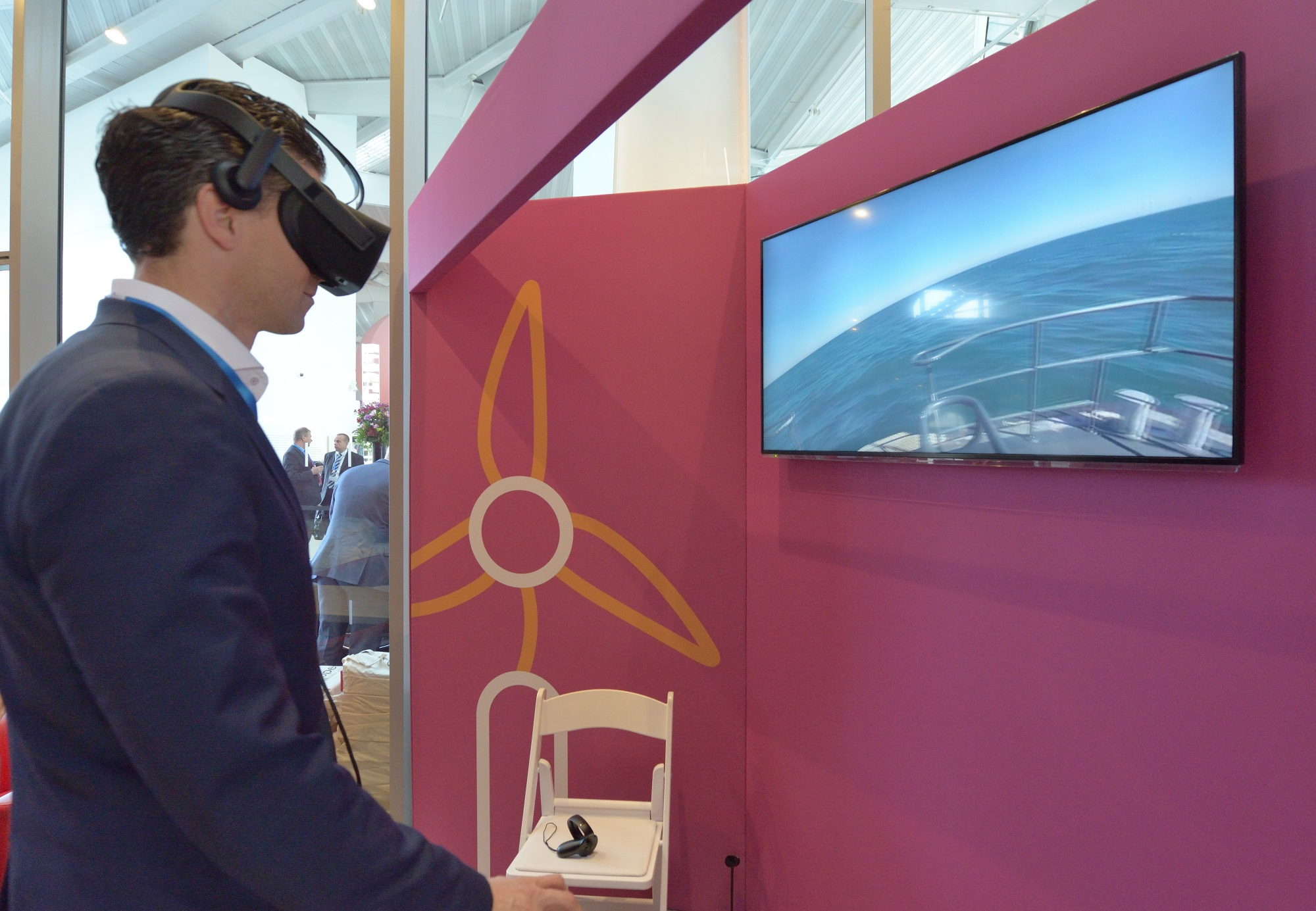 Galloper VR at the project inauguration event