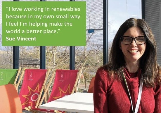Taking part in a 'Why I love working in renewables' campaign
